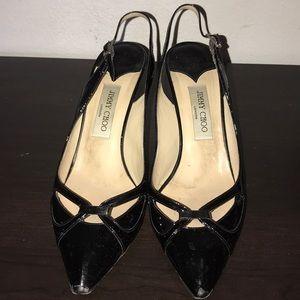 Jimmy Choo patent heels very gently used